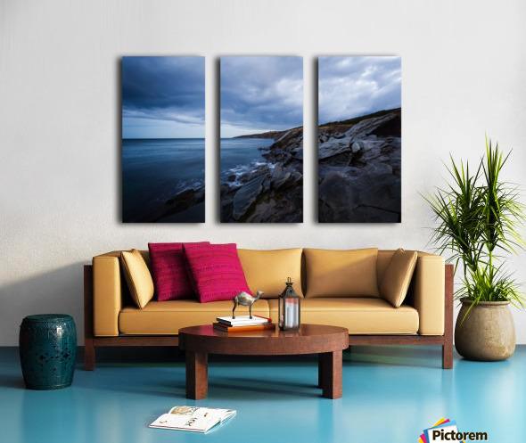 Deep Blue Split Canvas print
