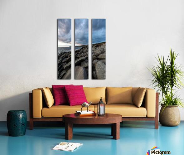 Drama in the sky Split Canvas print