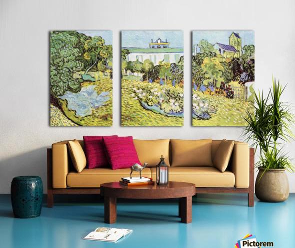 The garden of the Daubignys by Van Gogh Split Canvas print