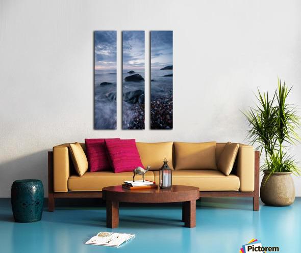 Shades of blue Split Canvas print