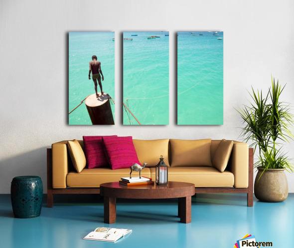 INTO THE BLUE 2. Split Canvas print