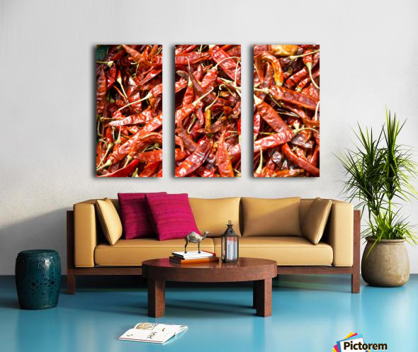 RED CHILLI PEPPERS Split Canvas print