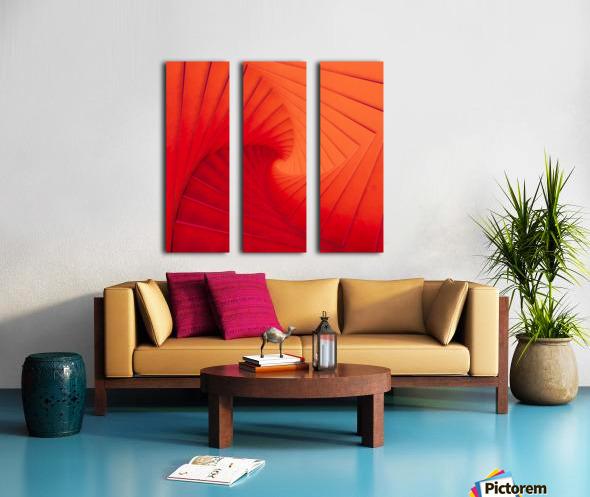 Composition Vermillon Split Canvas print