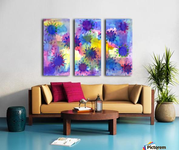 Watercolor blots Split Canvas print