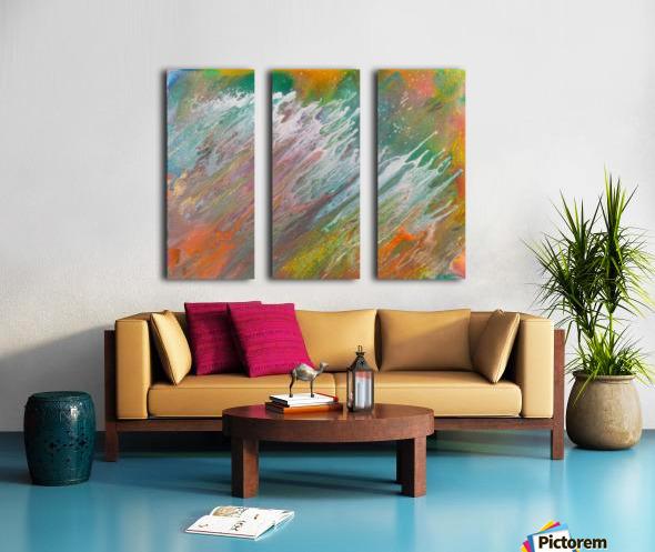 OFF THE SHORE Split Canvas print