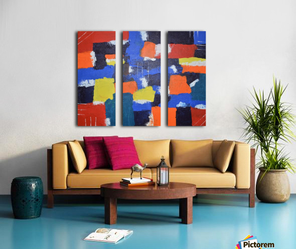 Abstract Painitng Split Canvas print
