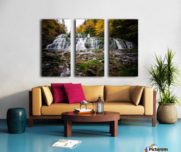 Autumn at Egypt Falls Split Canvas print