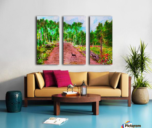 Old Road to Cochoran  Split Canvas print