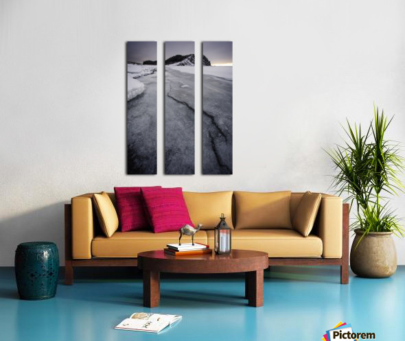 Cracked  Split Canvas print