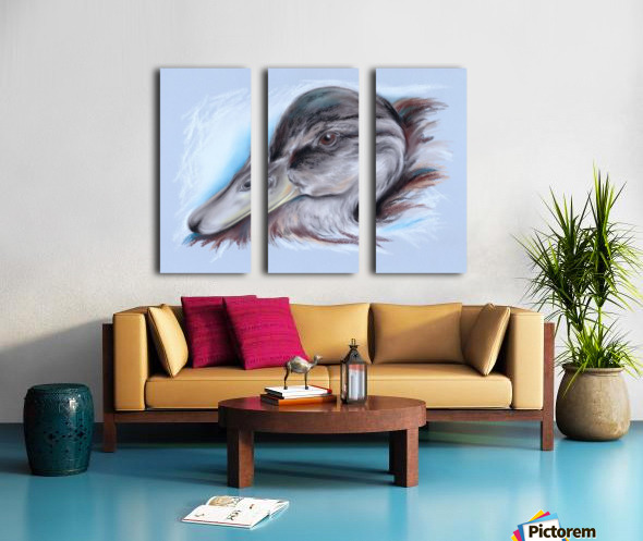 Brown and White Duck Split Canvas print