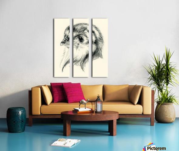 Black Australorp Chic in Charcoal Split Canvas print