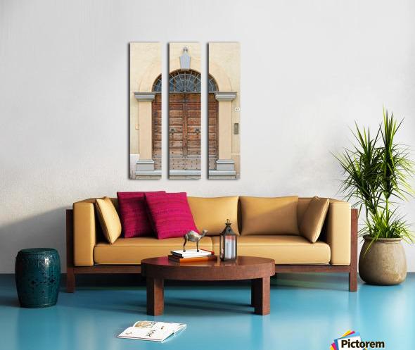 Old Wooden Door Tavernelle Split Canvas print