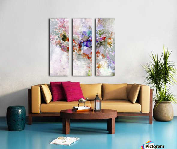 Mind in Meditation Split Canvas print