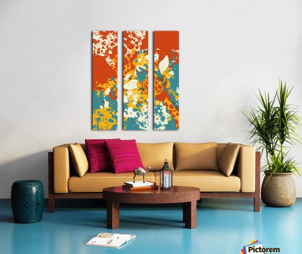 Cute Giraffe Abstract Split Canvas print