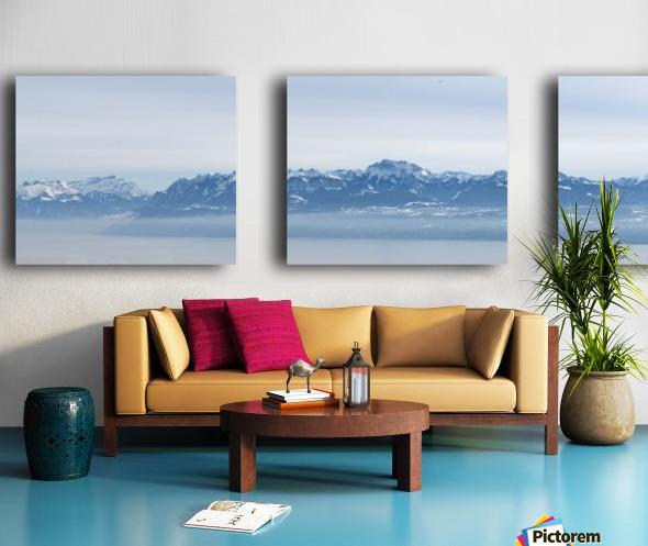 Lake Geneva and Alps Split Canvas print