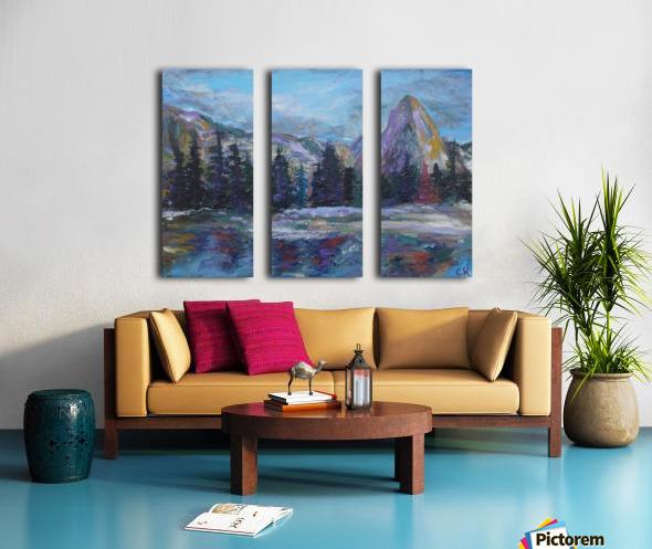 Lone Eagle Peak reflected in Mirror Lake Indian Peaks Wilderness Split Canvas print