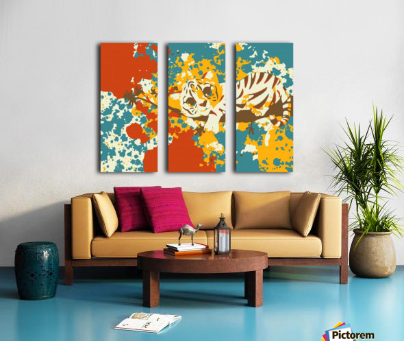 Little Tiger Abstract  Split Canvas print
