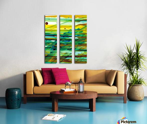 Hazy Rays Split Canvas print