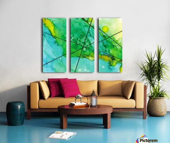Green under the Lines Split Canvas print