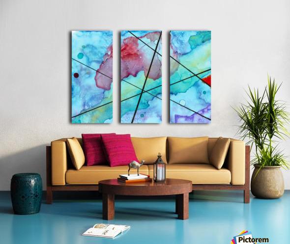 Blue under Lines  Split Canvas print