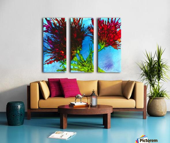 Wicked Flower  Split Canvas print