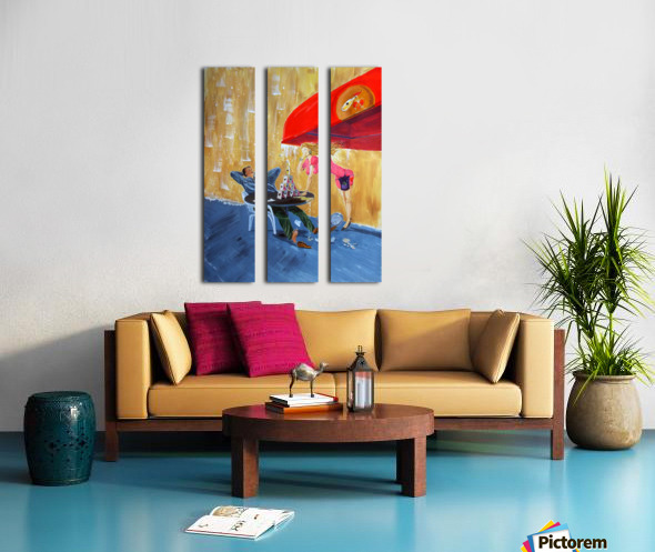Drink and play Split Canvas print