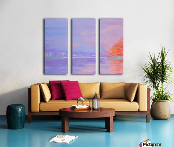 George Washington Bridge Sunrise Split Canvas print