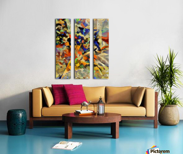 Abstract Painting with Geometric Figures Split Canvas print