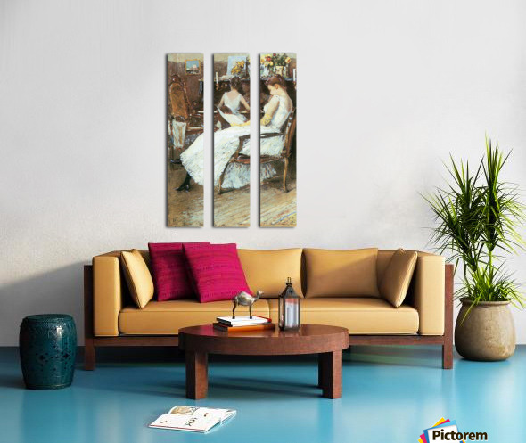 Mrs. Hassam and her sister by Hassam Split Canvas print