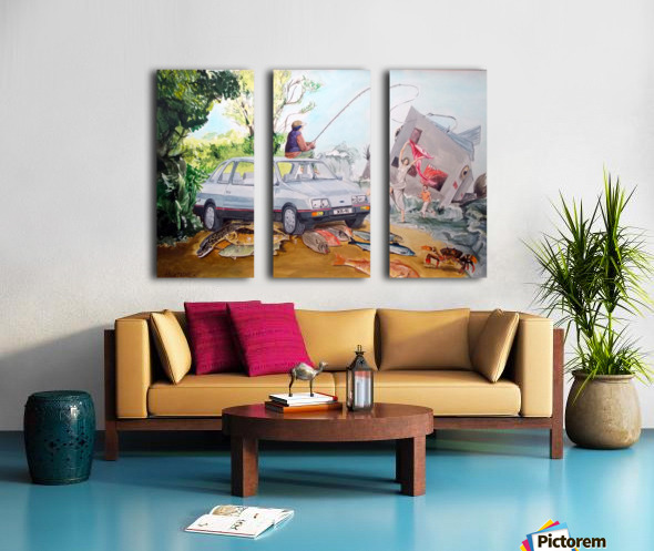 Gift Split Canvas print