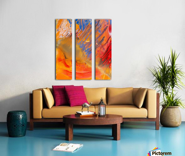 METEORITE Split Canvas print