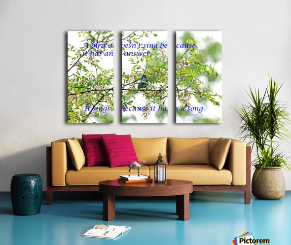 Because It Has A Song Split Canvas print