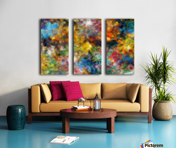 Clouds and Lights Split Canvas print