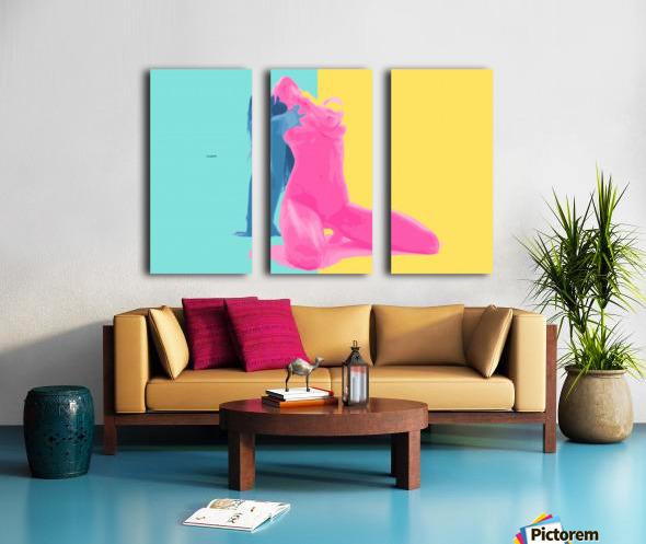 Pink Desert Blue Girl Split Canvas print