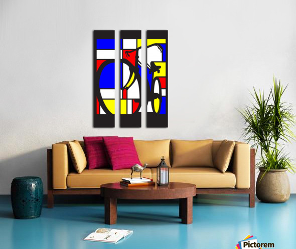 mondrian bike_1553400212.88 Split Canvas print