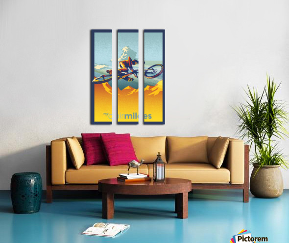 my air miles Split Canvas print