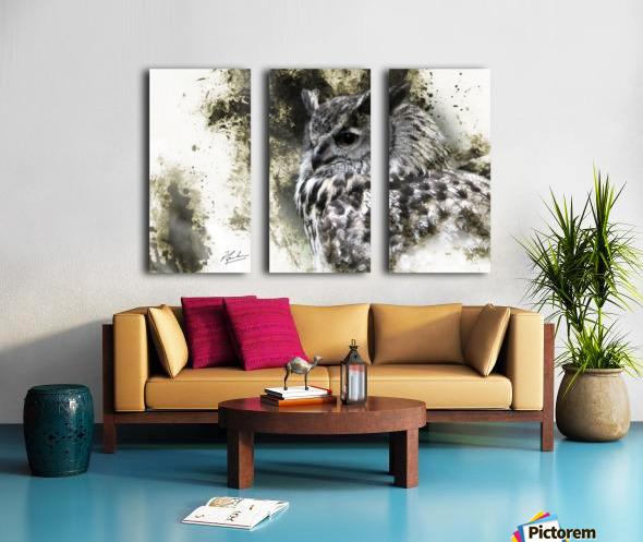 European Eagle Owl Split Canvas print
