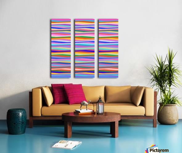 Wavy Stripes Abstract  Split Canvas print