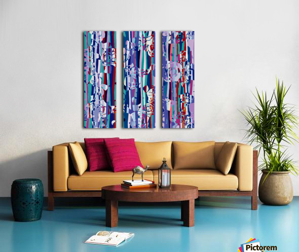 Abstract Mixed Up Split Canvas print