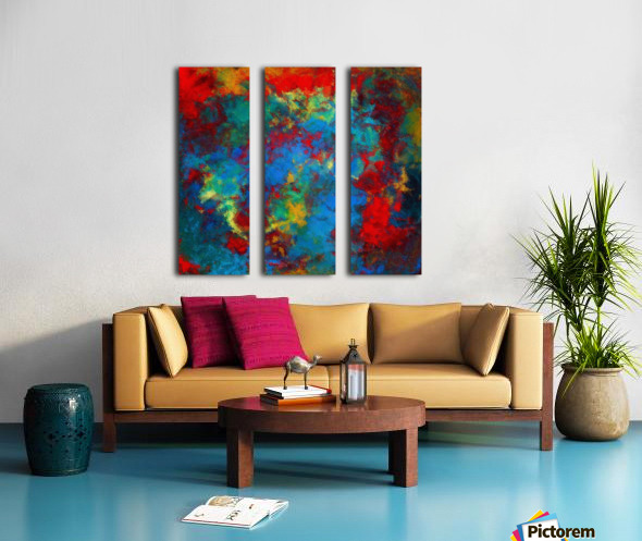 A Storm of Blood and Blue Split Canvas print