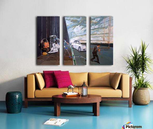 MIRAGES OF LIVES Split Canvas print
