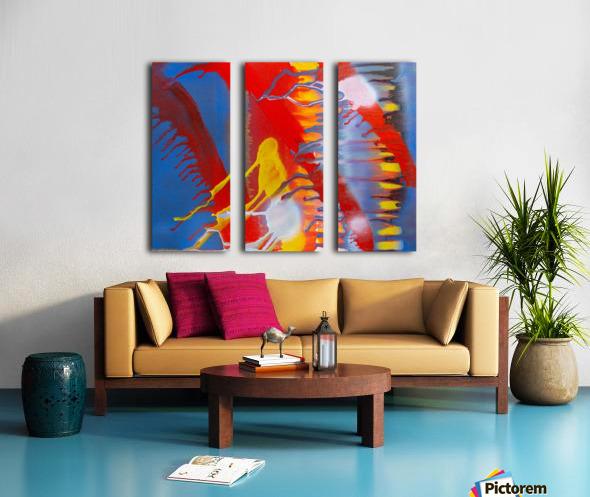 STEEL WORLD Split Canvas print