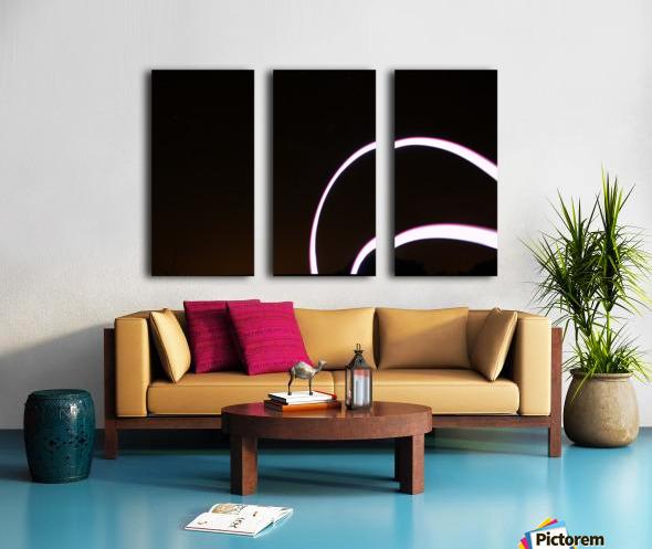Arc Flash Split Canvas print