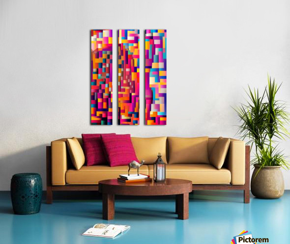 Geometric Abstract Painting Split Canvas print