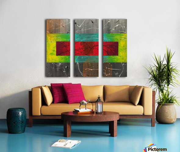 LAYERS Split Canvas print