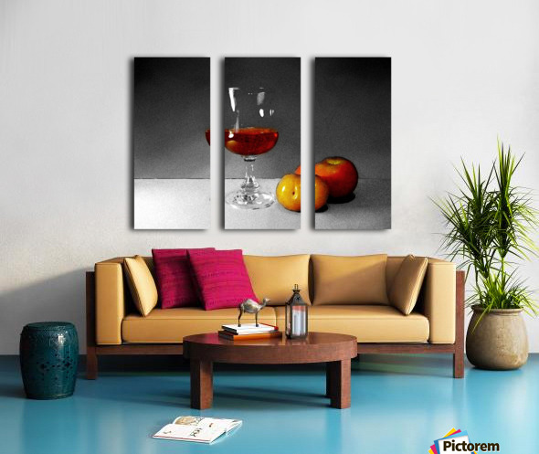 Wine and Fruits Split Canvas print