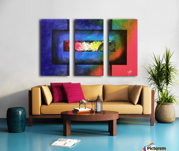 WINDOW OF PERCEPTION Split Canvas print