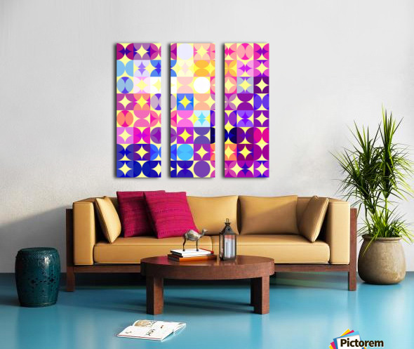 Geometric XXXVI Split Canvas print