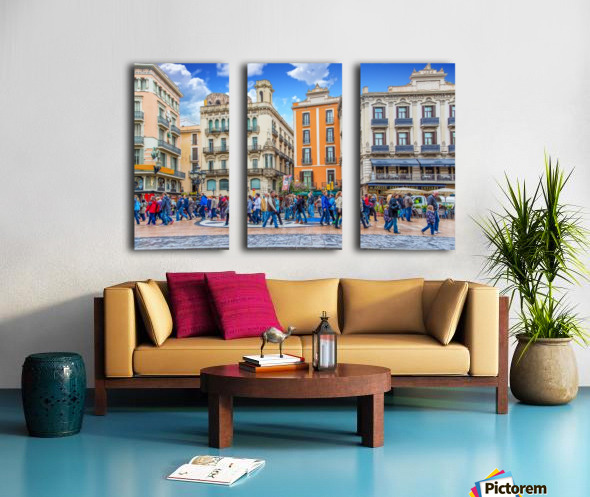 Plaza de la Boqueria Edit Split Canvas print