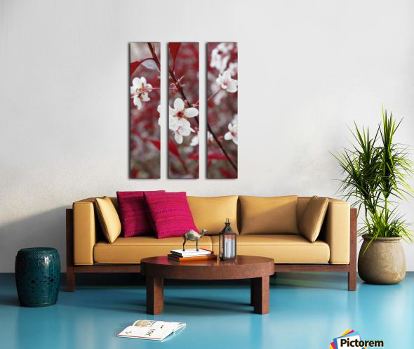White Blood 2 Split Canvas print